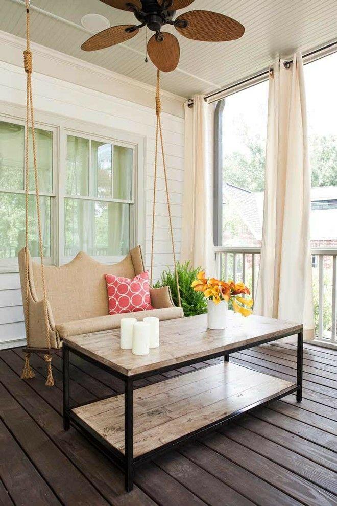 Deckenventilator Terrasse Sommer Laune Beistelltisch Schaukel Exterieur