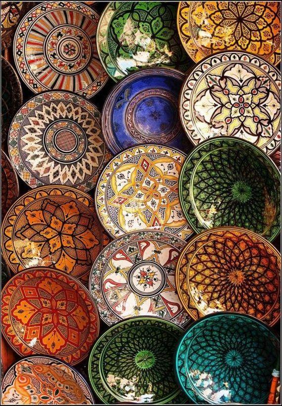 Deko Teller Marokko Handarbeit Interieur