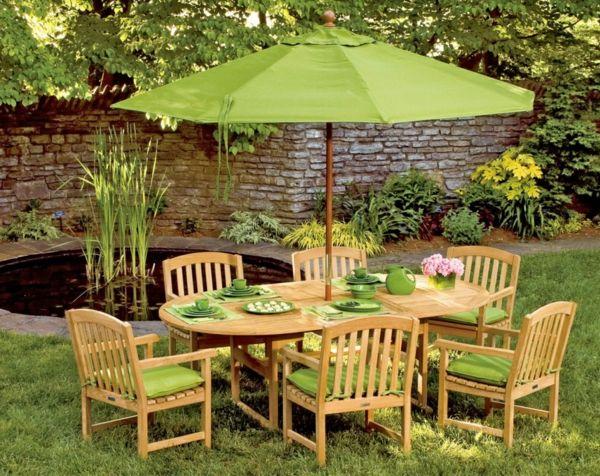 Der Sonnenschutz lässt sich hervorragend an die sonstige Einrichtung des Außenbereiches anpassen