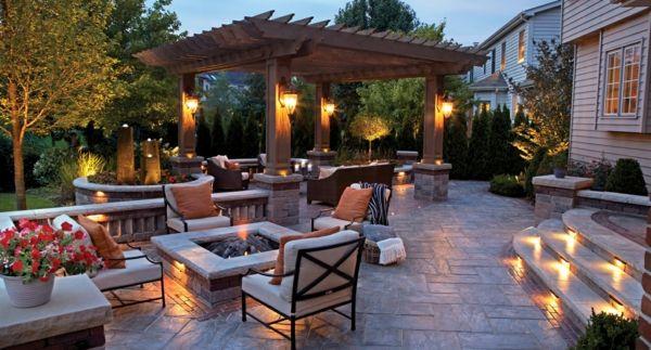 Gartenbeleuchtung für einen schönen Garten bei Tag und Nacht ...