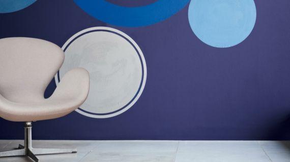 Innengestaltung Wohnzimmer trendy Blau Pastelltöne