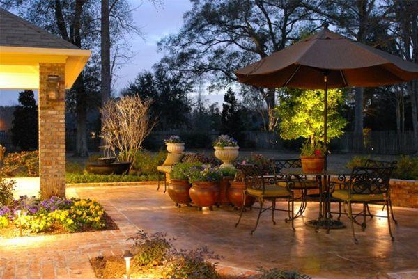 Jeder Garten bekommt mit einer richtig positionierten Beleuchtung mehr Tiefe