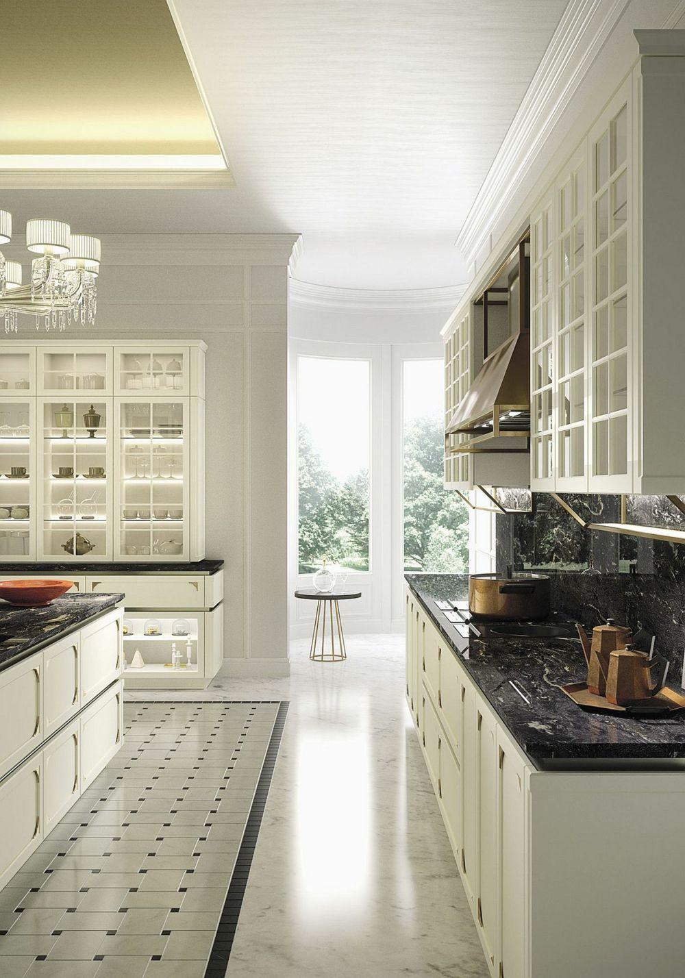Sogar das Geschirr ist bronzefarben