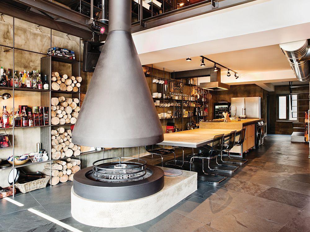Brennholz als Deko Element im Interieur