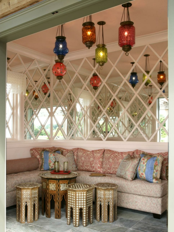 Kerzenhälter bund marokkanische Sitzmöbel