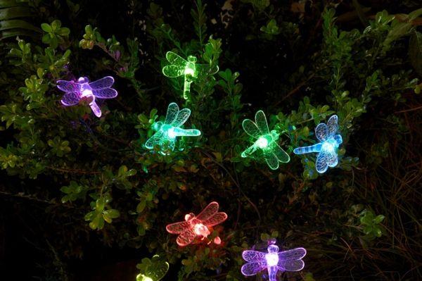 LED-Lichtschläuche mit RGB Farbwechsler für den Garten