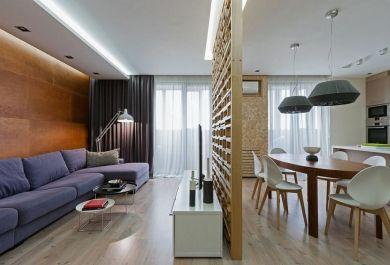 Tolle Innengestaltung ohne Wände – eine zeitgenössische Wohnung in ...