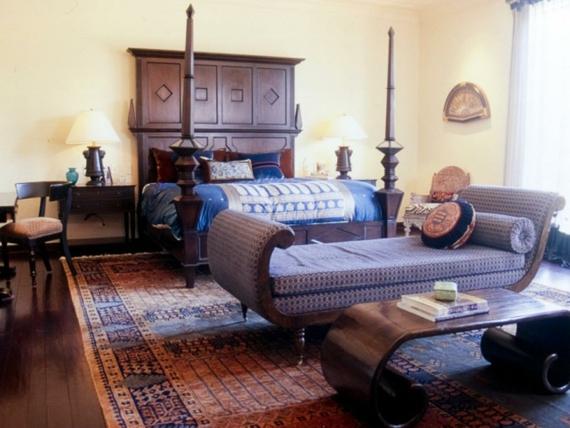 Schlafzimmer Innenausstattung marokanisch Teppich bunt