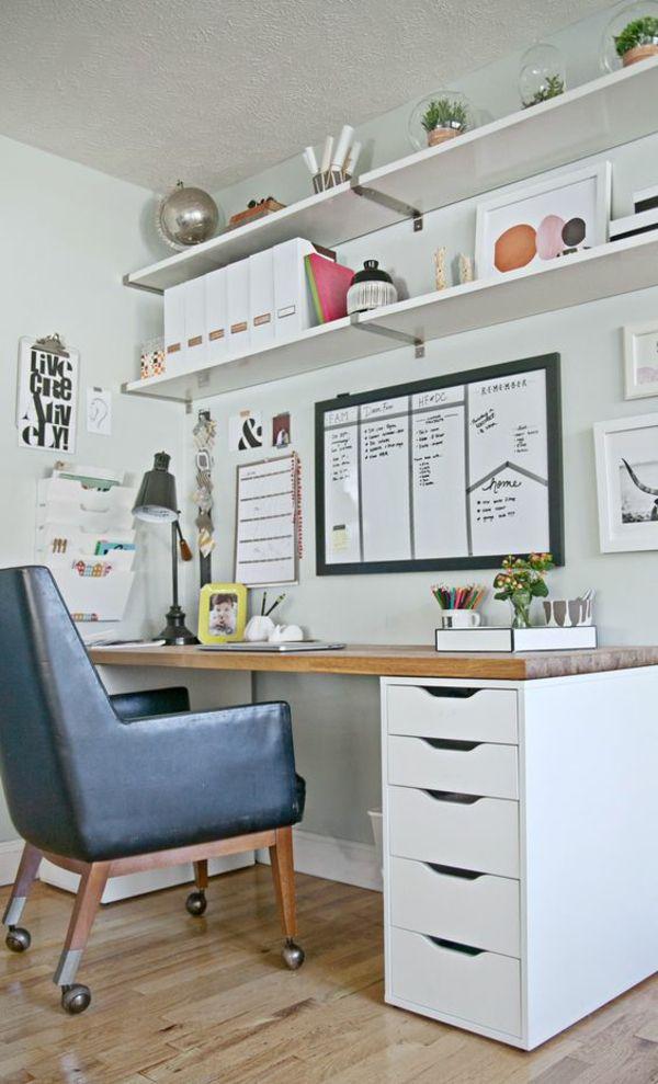Schubladen von IKEA Wandregale Büro zu Hause