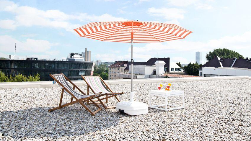 sonnenschirme und sonnensegel f r garten terrasse und balkon. Black Bedroom Furniture Sets. Home Design Ideas