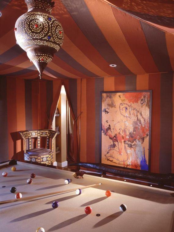 Spielraum Zelt Optik handgemachte Lampe Billard Marokko