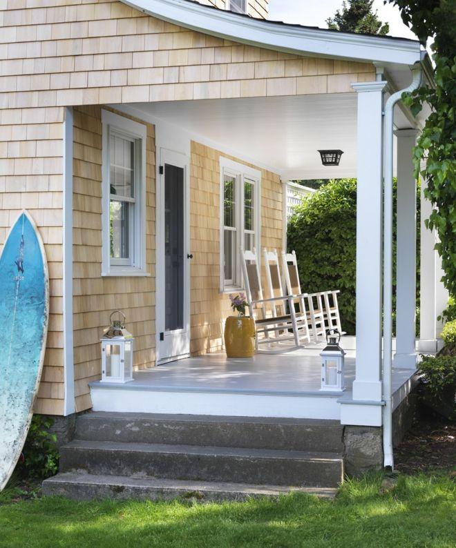 Surfbrett Sommer Stimmung Terrasse Laterne Kerzen