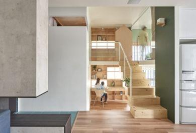 """moderne wohnung weiss holz, block village"""" von hao design oder wie setzt man das holz in der, Design ideen"""