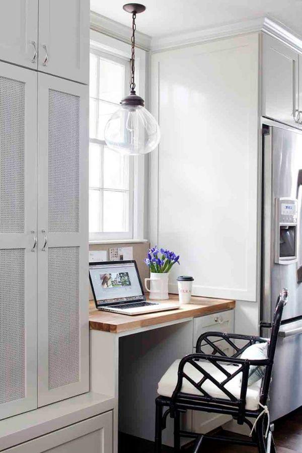 kleines Büro zu Hause gestalten wenig Platz