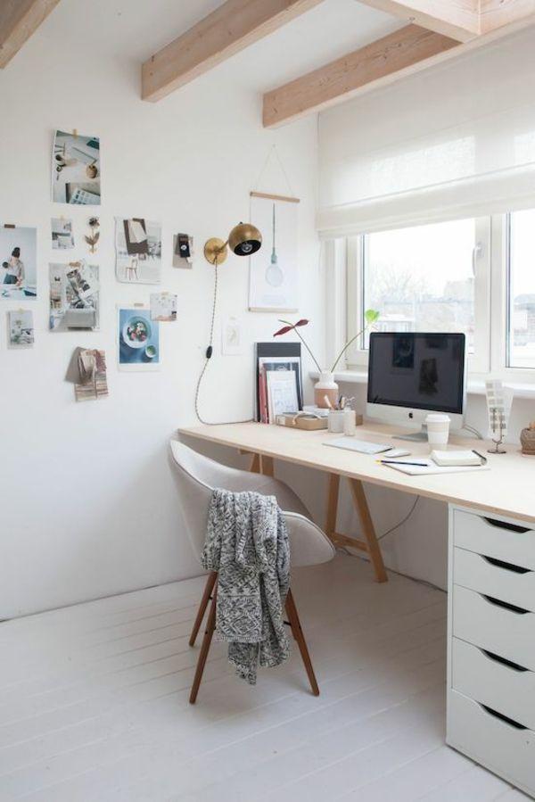 natürliche Lichtquelle im Büro zu Hause weiße Schubladen