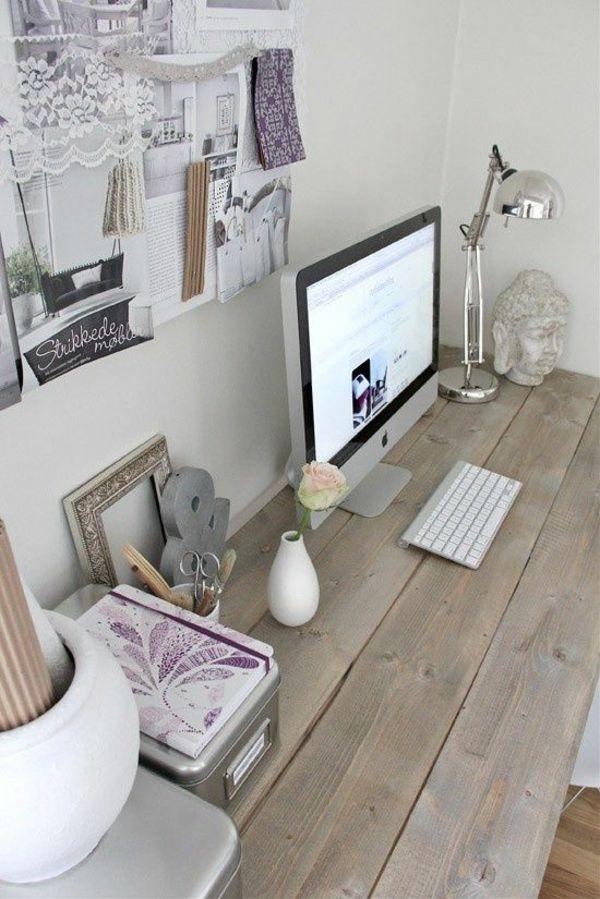 romantische Arbeitsatmosphäre zu Hause Arbeitsplatz Interieur