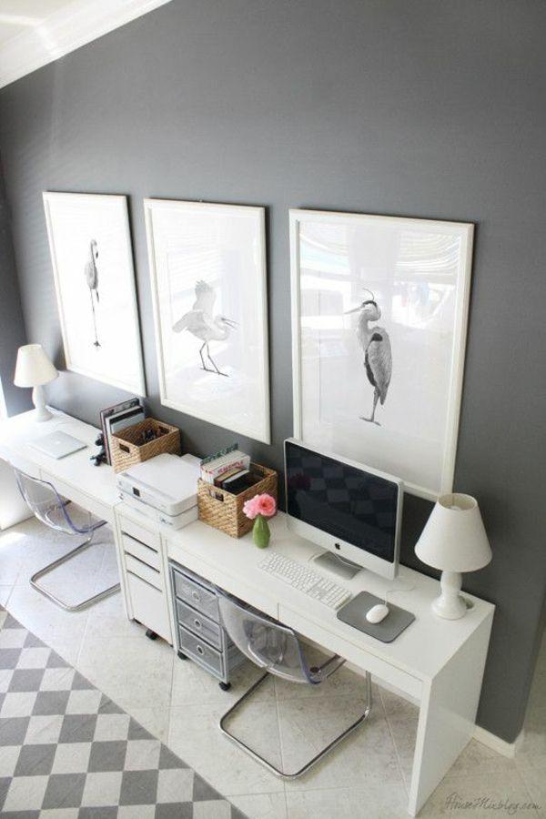 stilvolles Büro zu Hause Einrichtung trendy