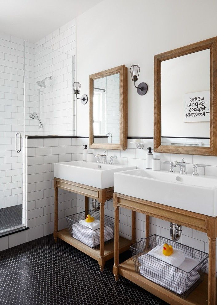 Bad Ideen für moderne Möbel Waschtisch aus Holz