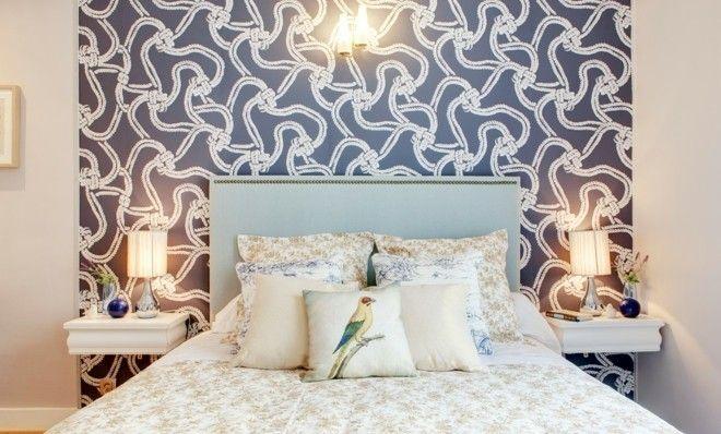 Das grau-weiße Seeseil deko ideen schlafzimmer bett tapete
