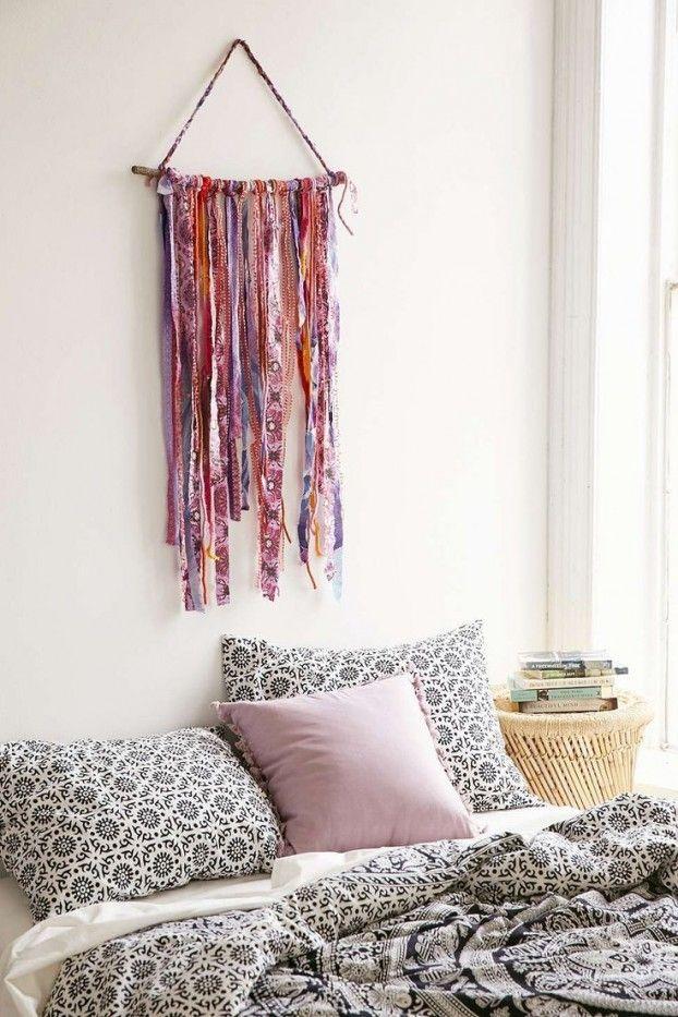 Deko Ideen in Bohemian Stil Bettwäsche in Rosa und Grau
