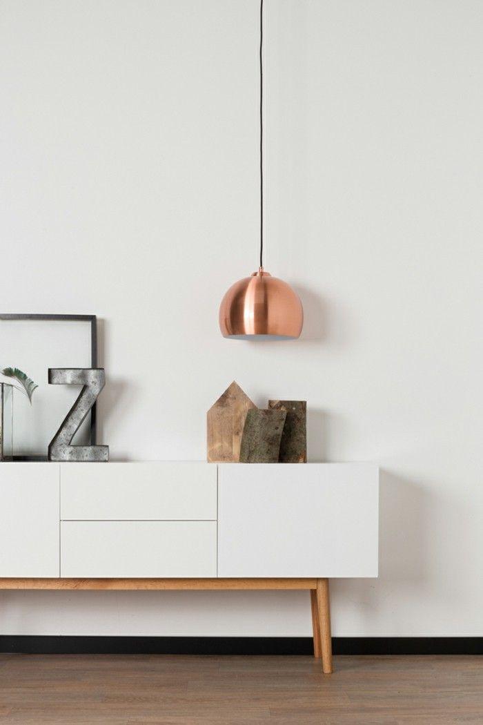 Design Hängeleuchte in Kupfer
