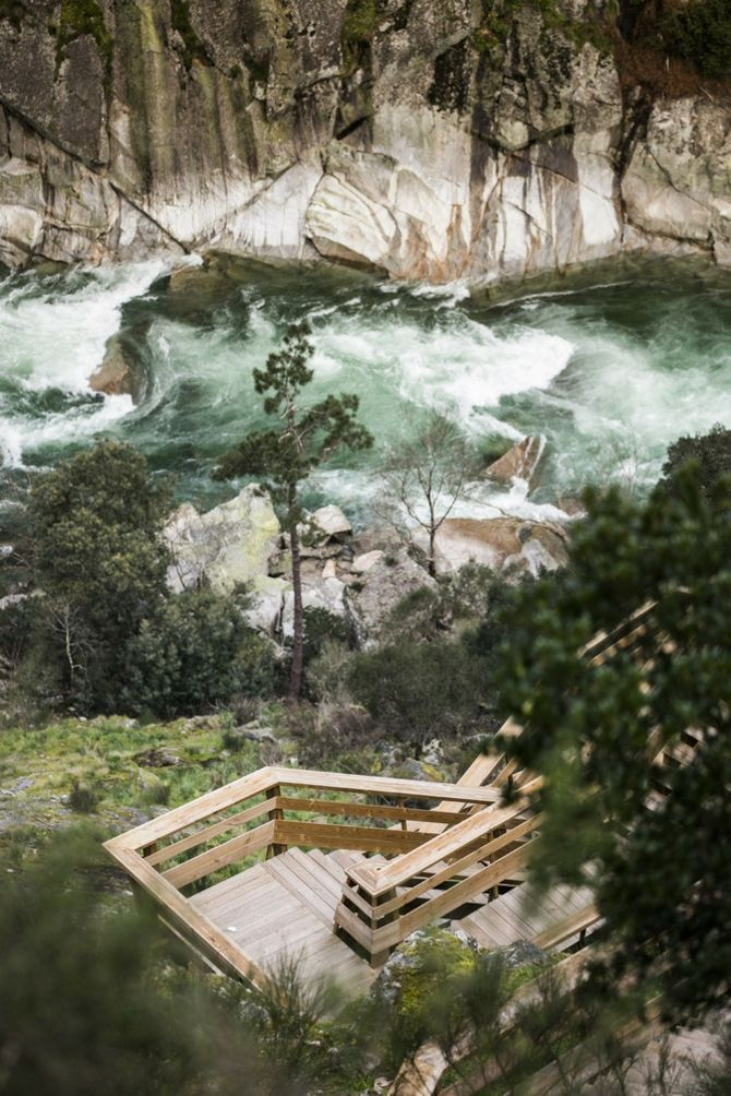 Felsen Fluss Paiva Walkways Natur
