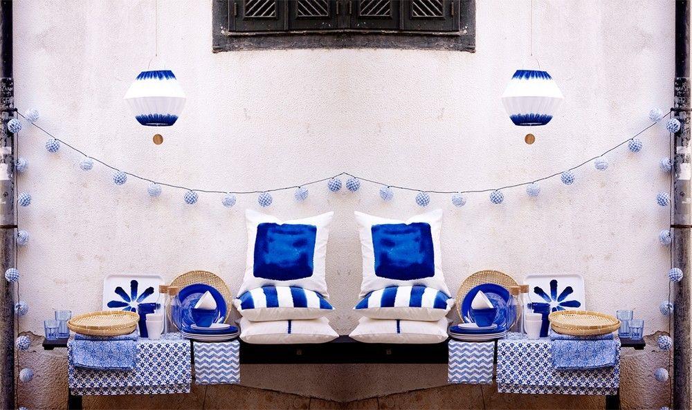Ikea sommar kollektion blaue und wei e accessoires f r for Haus accessoires dekoration