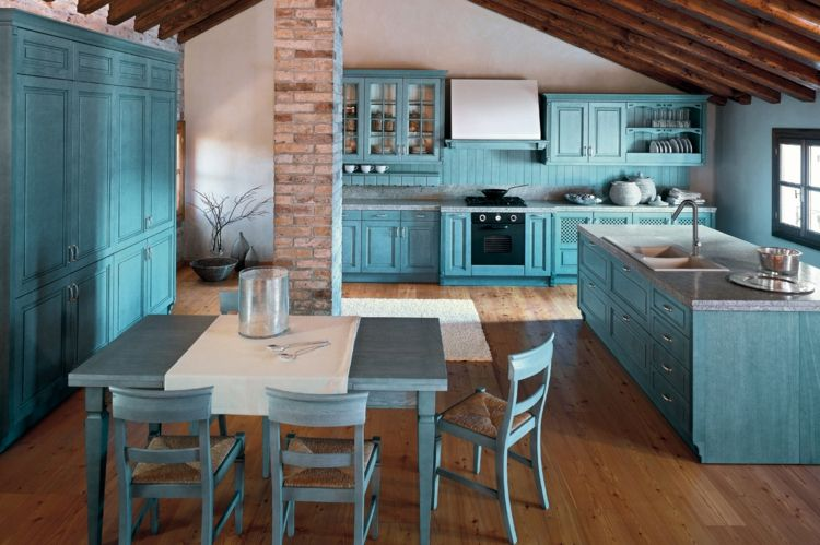 Idee Für Eine Blaue Küche