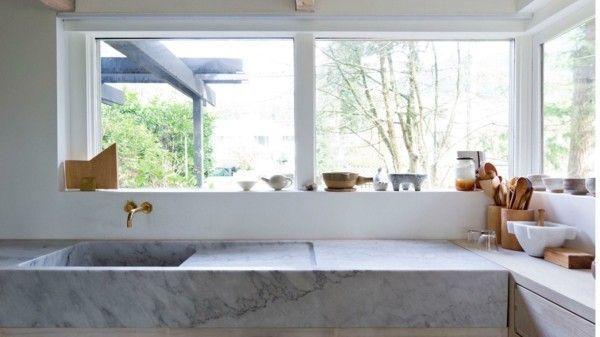 Küche Kochinsel Marmor Arbeitsplatten