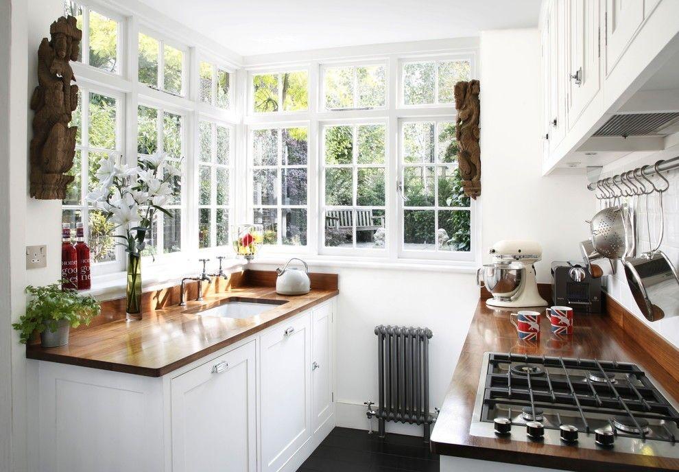 Küche mit Eckfenster modern kueche ideen