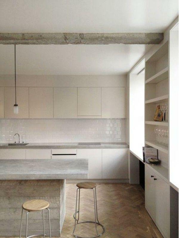 Kücheninsel Beton Küchengestaltung