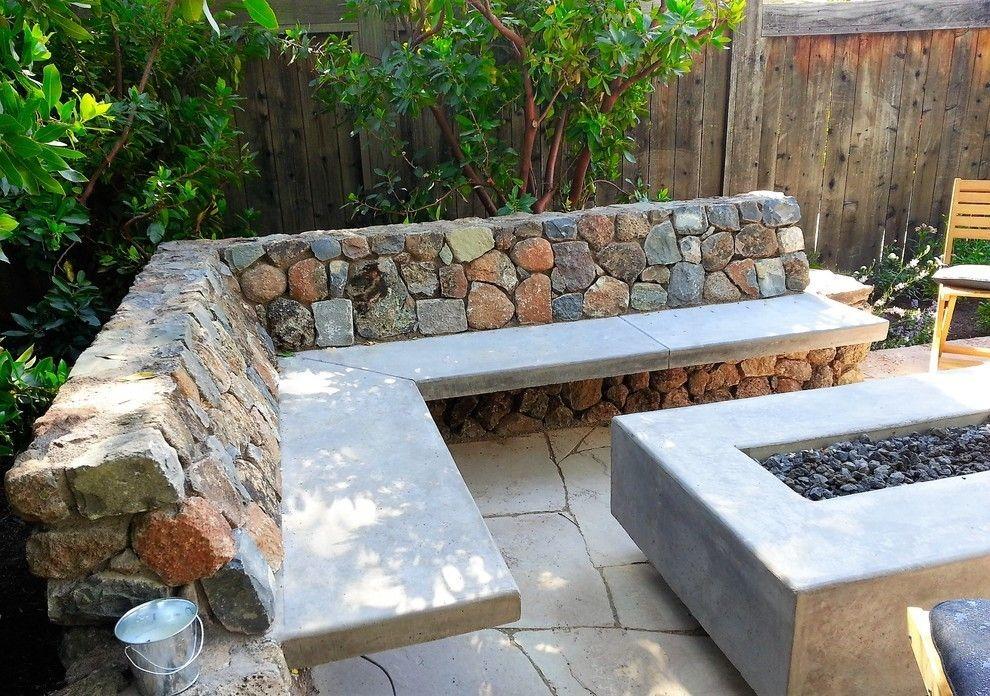 Moderne Patio Ideen für Ihren Outdoor Steinbank und Steinboden