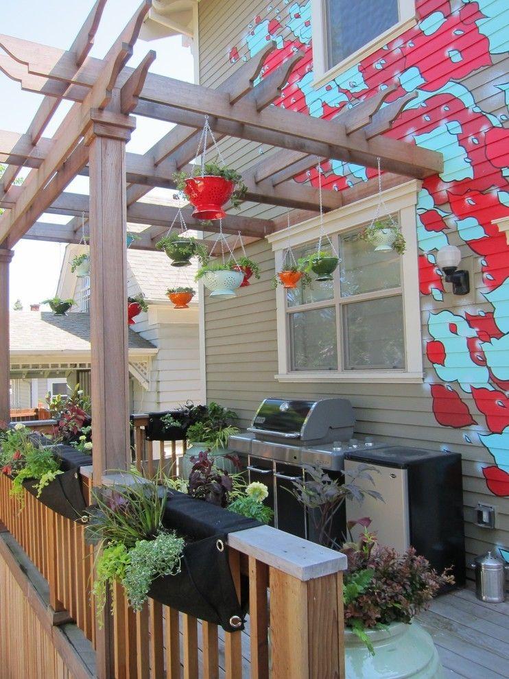 Moderne Terrassengestaltung Outdoor Küche für die Terrasse
