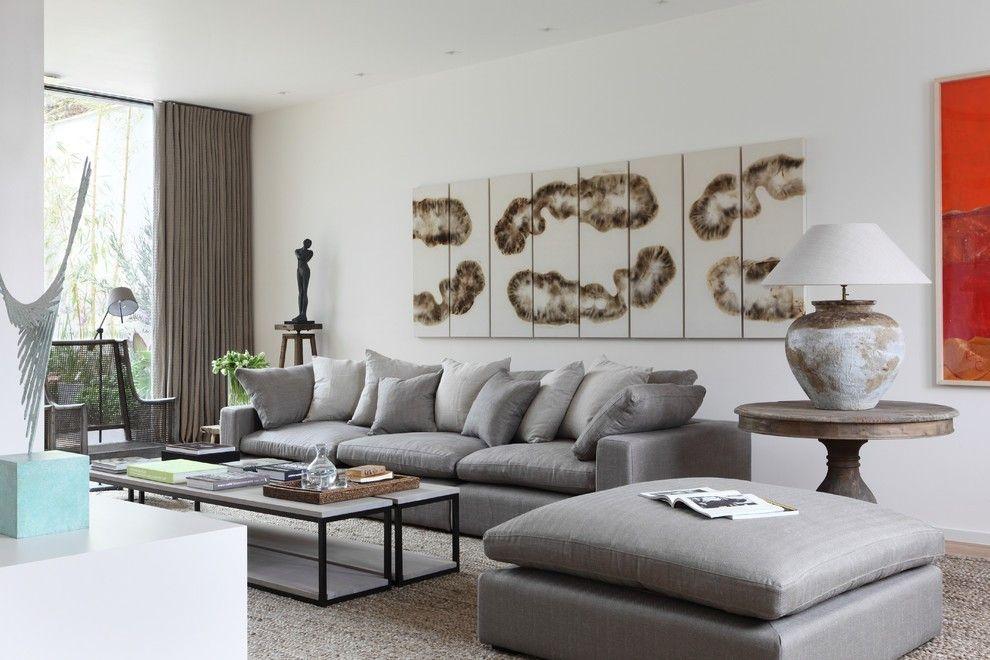 Moderne wohnzimmer schöner Teppich neutrale farben