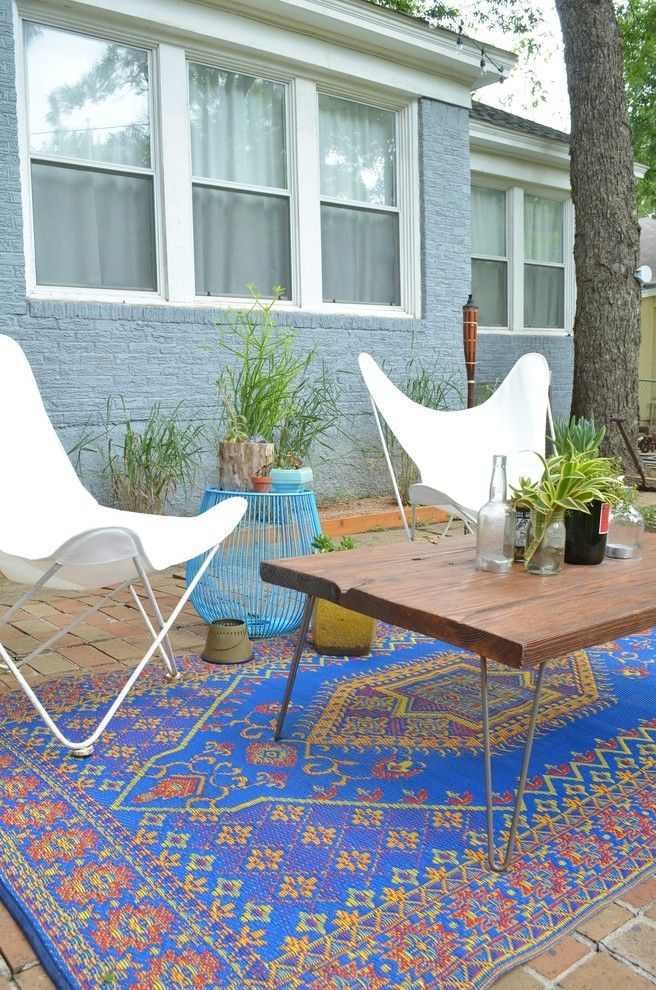 Outdoor Teppich klassisch garten dekoideen