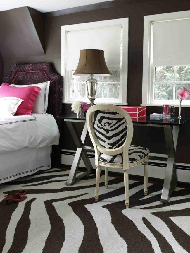 Schwarz Und Weiß Animal print Zimmer Ideen