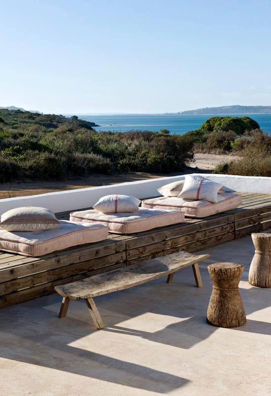Sitzmöbel aus Euro-Paletten Gestaltungsideen Outdoor