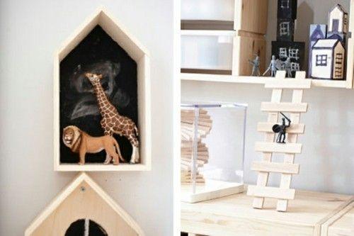Spielzeuge aus Holz Ikea Einrichtungsideen Wanddekoration