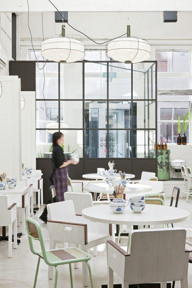 Tolles Restaurant in Melboune Innengestaltung in Weiß-resized