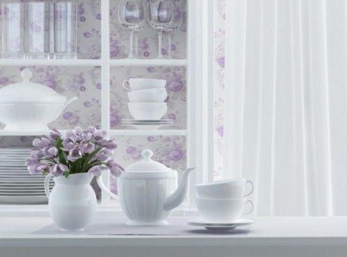 Vorhänge für die Küche im Stil der Provence