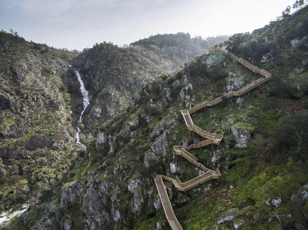 Wasserfall Natur Paiva Walkways klettern