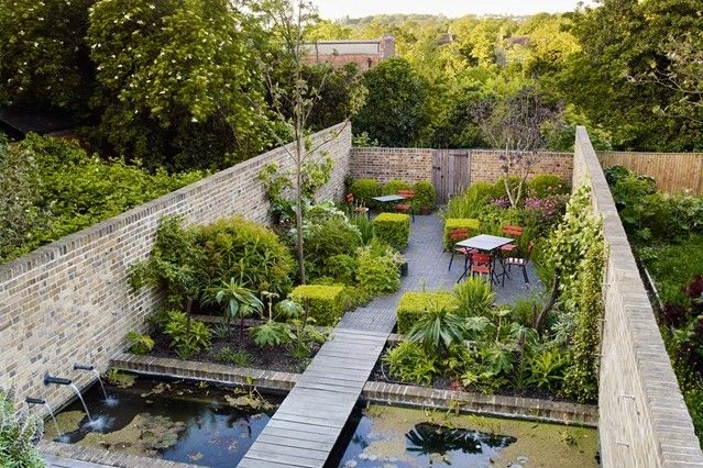 Wasserspiele Garten Ideen modern