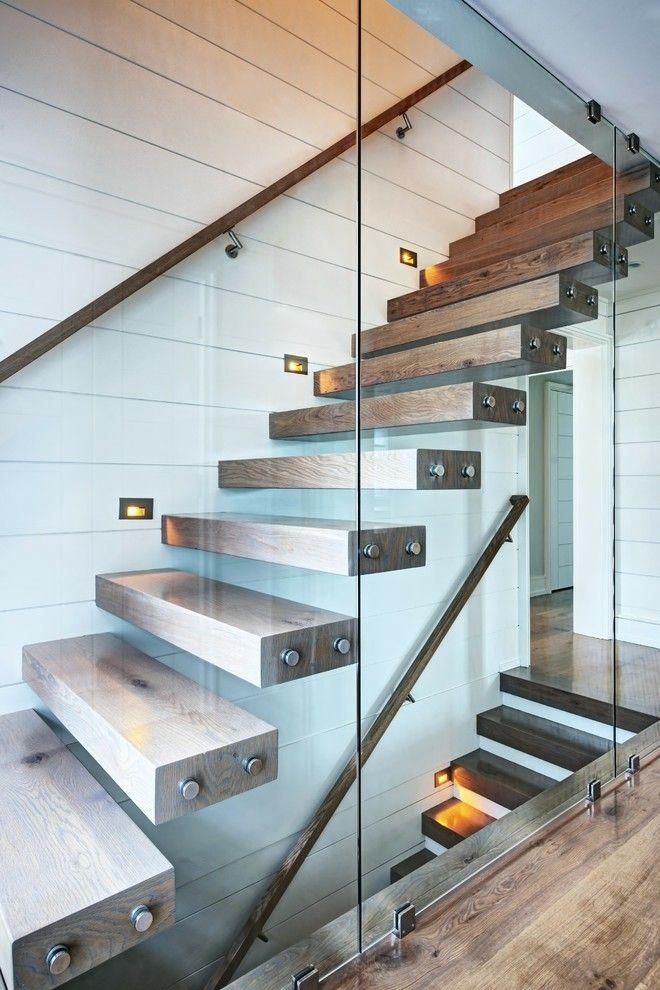 Wendeltreppe In Einem Modernen Haus