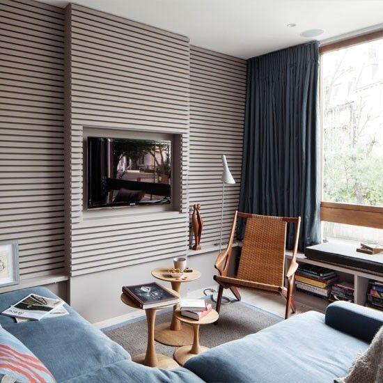 Wohnzimmer Weiss Grau Holz Hhlenhnliche Gebilde Brechen Im Innendesign Durch Trendomat