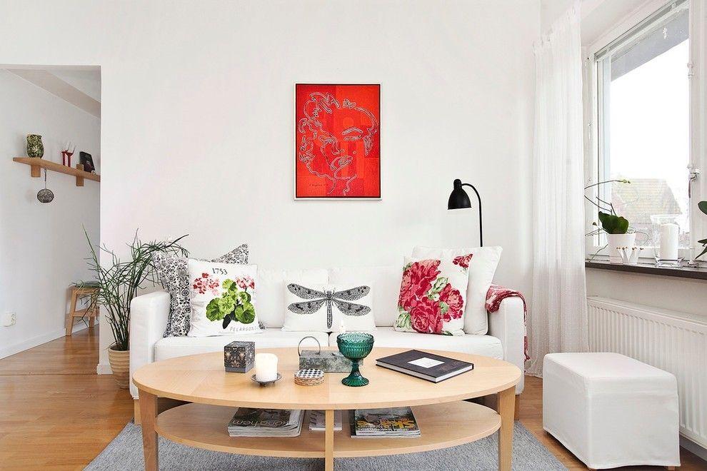Wohnzimmer sofa weiss möbel mit dekokissen