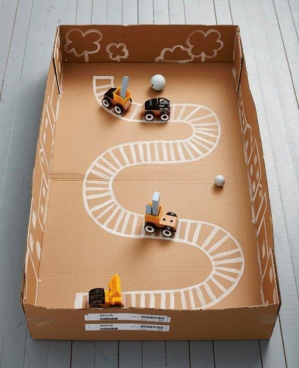 alte Kasten in Spielzeug umfunktionieren Stadtstraße selbst malen