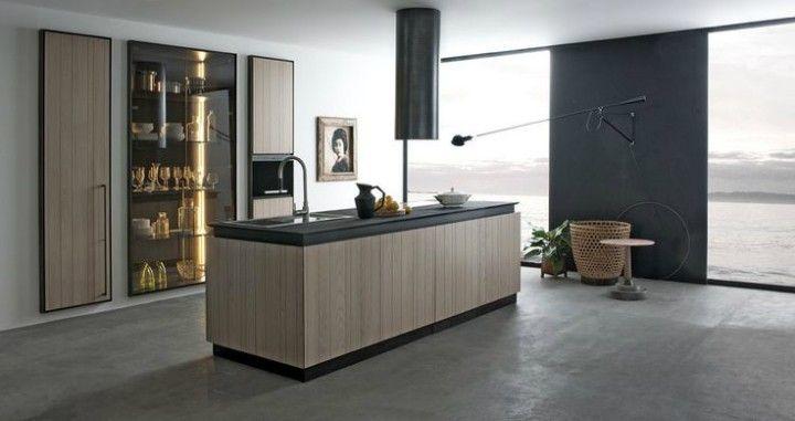 beleuchtete Glasvitrine in der Küche Gestaltungsideen für die moderne Wohnung