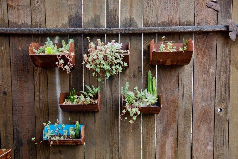 gartenzaun holz stahl elemente gärten ideen