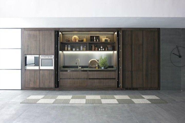 geometrischer Teppich coole Küchengestaltung Interieur Ideen
