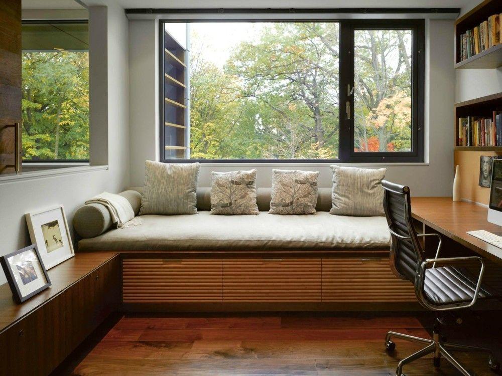 gepolsterte Sitzban home office von zuhause arbeiten